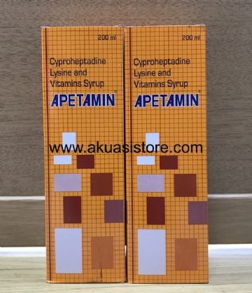 APETAMIN  VITAMINS  SYRUP FOR WEIGHT GAIN 200ml x 2